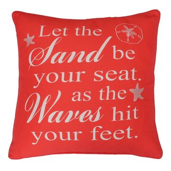 Thro By Marlo Lorenz Beach Sentiment Embroidered Throw Pillow