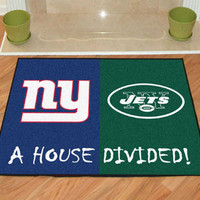 "NFL - New York Giants/New York Jets House Divided Rugs 34""x45"""