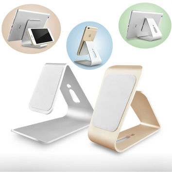"""[CNC STYLE]Aluminum Desk Holder Table Stand Charger For iphone 6/7 Plus 4.7"""" 5.5"""" Samsung"""