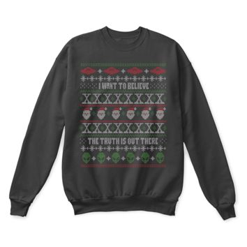 QIYIF The X-Files I Want To Believe The Truth Is Out There Ugly Sweater