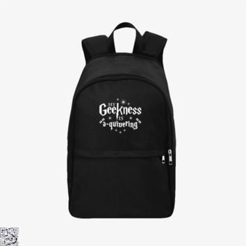 My Geekness Is A Quivering, Harry Potter Backpack