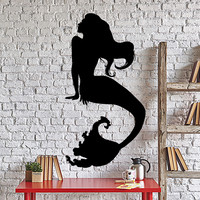 Wall Vinyl Decal Hot Girl Mermaid Fairytale Marine Sea Ocean Home Decor Unique Gift z4385