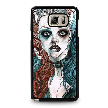 harley quinn art samsung galaxy note 5 case cover  number 1
