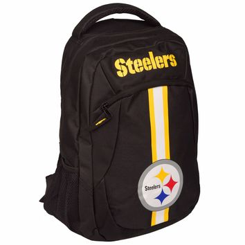 Pittsburgh Steelers Logo Action BackPack School Bag Back pack Gym Travel Book