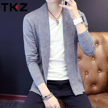 Young And Tiding Men's Long Sleeve Knit Cardigan Sweater