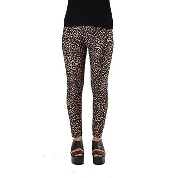 Brown Animal Print Plus Size Leggings