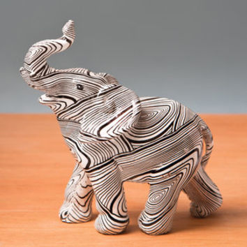 Standing Elephant with Geometric Spiral Swirl Design Accent Piece - 18300006 - Overstock - Great Deals on Statues & Sculptures - Mobile
