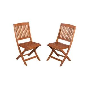Hampton Bay, Adelaide Eucalyptus Patio Dining Side Chair (2-Pack), KTOC-1729-HDP at The Home Depot - Mobile