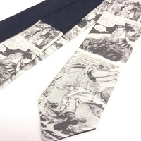 Batman Comic Book Skinny Necktie large print