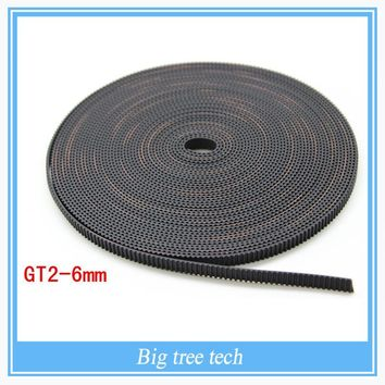 Hot sale 2meter GT2-6mm open timing belt width 6mm GT2 belt For 3D Printer parts