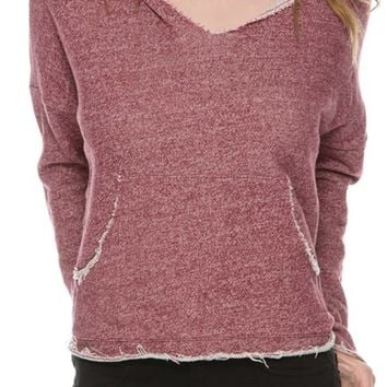 RVCA EASY HEART OVERSIZED PULLOVER