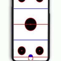 iPhone 6S Case - Hard (PC) Cover with Ice Hockey Rink  Plastic Case Design