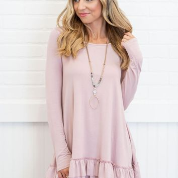 Care To Unwind Tunic, Dusty Mauve