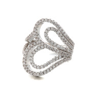 Jewelry Gift New Arrival Stylish Shiny Fashion Strong Character Hollow Out Diamonds Ring [6047309825]