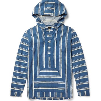 J.Crew - Shibori Baja Striped Cotton Hoodie