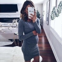 S-2XL Maternity Dress Autumn Winter Pregnancy Clothes for Pregnant Women Slim Sexy Mummy Clothing Pregnancy Dresses Outfits