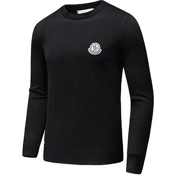 Boys & Men Moncler Casual Winter Keep Warm Long Sleeve Top Sweater