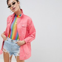 ASOS DESIGN four pocket washed jacket at asos.com