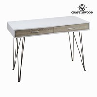 Computer desk 2 drawers pvc by Craften Wood