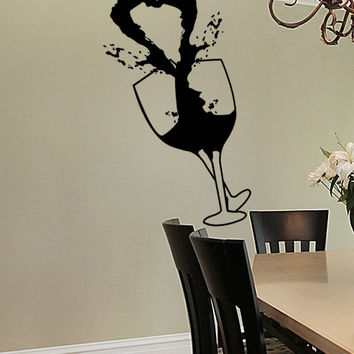 Vinyl Wall Decal Sticker Heart Wine #1258