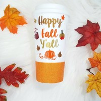 Happy Fall Y'all Travel Mug