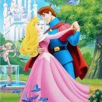 5D Diamond Painting Aurora and Her Prince Dancing Kit