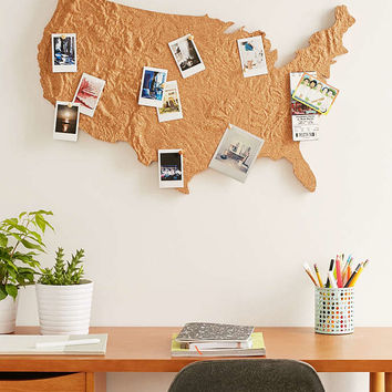 Cross Country Cork Board - Urban Outfitters