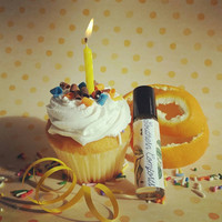 Cruelty-free perfume. Baby Cakes- Pretty Perfume Oil/Vegan Solid Fragrance. Orange blossom accord, buttercream icing, vanilla cake, bergamot