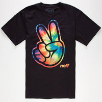 Neff Concord Tie Dye Mens T-Shirt Black  In Sizes