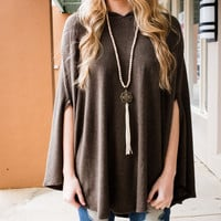 Get Out of Town Brown Hooded Cape