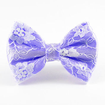 Lavender Hair Bow, Lace Hair Bow, Lilac Hair Bow, Flower Girl Bow, Lilac Bow, Lavender Bow, Bridesmaid Hair Bow, Lace Bow, Lavender Wedding