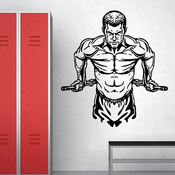 ik2917 Wall Decal Sticker Workout Gym Fitness living room bedroom
