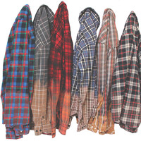 Ombre Flannel Shirt - Dip Dyed Distressed Flannels