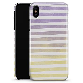 Purple to Yellow WaterColor Ombre Stripes - iPhone X Clipit Case