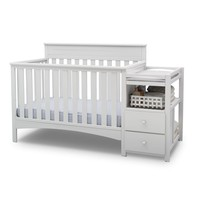 Delta Children Presley Convertible Crib N Changer, Grey | Overstock.com Shopping - The Best Deals on Cribs
