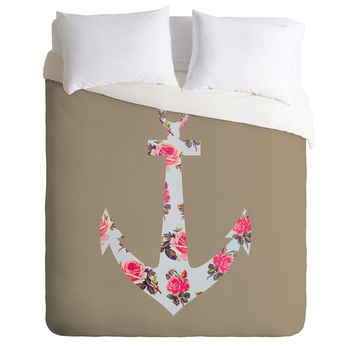 Allyson Johnson Floral Anchor Duvet Cover