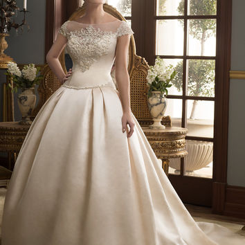 Casablanca Bridal 2164 Satin Wedding Dress