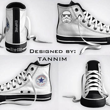Custom Star Wars Stormtrooper Converse Chucks by Tannim on Etsy