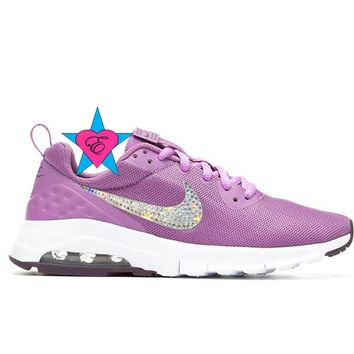 Bedazzled Girls Purple Air Max Motion Low | 10.5-3