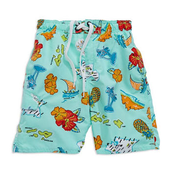 Kanu Boys 2-7 Island-Print Board Shorts