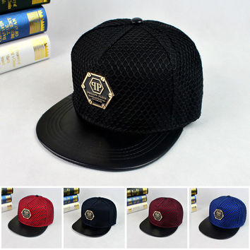 2016 Fashion New qp Pattern Baseball Cap Hat Bones Gorras Snapbacks Net Hats Personality Hip Hop Caps For Men And Women W298