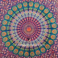 Hippie Dorm Tapestries Wall Hanging Indian Mandala Tapestry Bohemian Wall Tapestry Dorm Decor Bedding Beach Blanket Throw (60x90 Inches)