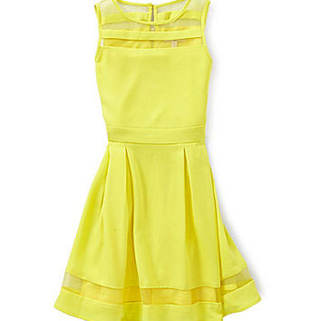 GB Girls 7-16 Sheer Insert Dress - Yellow