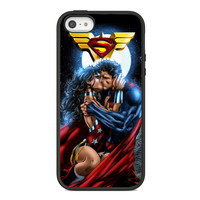 Superman and Wonder Woman Romantic Kiss NDR82 for iPhone Case and Samsung Galaxy Case