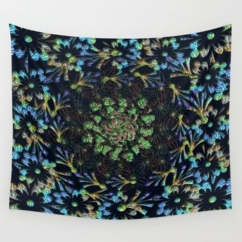 Black Russian Pattern Wall Tapestry by Deluxephotos