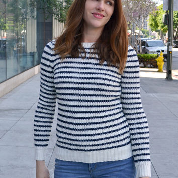Classic Striped Knit Sweater - Two Colors!