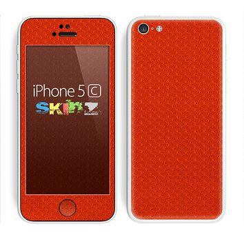 The Red Jersey Texture Skin for the Apple iPhone 5c