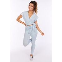 Another Sunday Two Piece Lounge Set (Sky Blue)