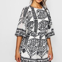 Embroidered Boutique Detail Playsuit | Boohoo