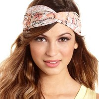 Abstract Print Twisted Headwrap: Charlotte Russe